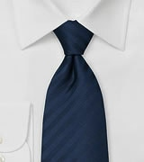 Elegant Navy Blue Business Tie