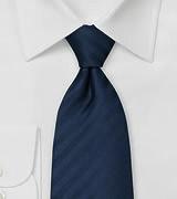 Elegant Navy Blue Business Tie