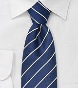 Sapphire Blue Striped Necktie