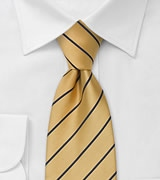 Striped Yellow and Navy Mens Necktie