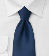 Solid Dark Royal Blue Neck Tie