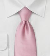 Mens Neck-tie in Solid Pink