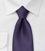 Mens Neck Tie in Solid Purple