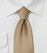 Solid Light Brown Necktie