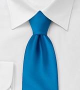 Solid Mens Tie in Dodger-Blue