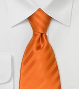 Classic Necktie in Bright Pumpkin-Orange