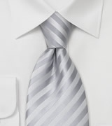 Mens Necktie in Festive Silver