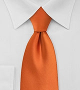 Solid Tie in Persimmon Orange