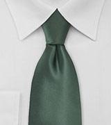 Solid Pine Green Mens Tie