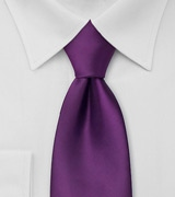 Solid Bright Purple Mens Tie