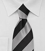 Classy Striped Tie Gray Black