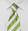 Grass Green and White Necktie