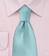 Solid Necktie in Pool Blue