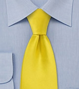 Solid Tie in Bright Sun Yellow