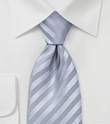 Silver Striped Tie