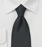 Solid Matte Black Pique Texture Tie
