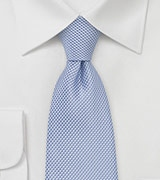 Grenadine Textured Men's Tie in Sky Blue