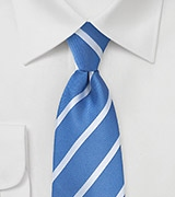 Riviera Blue and Silver Striped Tie