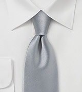 Striking Handcrafted Necktie in Silver