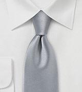Striking Handcrafted Necktie in Silver