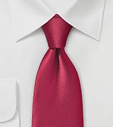 Sultry Cherry Red Necktie in Microfiber