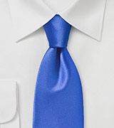 Modern Solid Color Tie in Horizon Blue