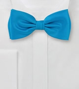 Mens Bow-Tie in Turquoise Blue