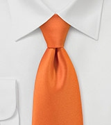 Bright Designer Necktie in Orange Sunset