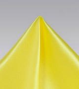 Thai Silk Pocket Square in Vibrant Yellow