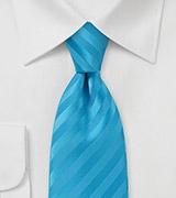 Vibrant Malibu Blue Men's Necktie