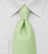 Solid Light Lime Green Mens Necktie