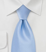 Solid Tie in Rich Sky Blue