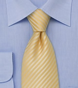 Narrow Striped Lemon-Yellow Necktie