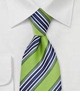 Trendy Lime & Navy Necktie