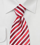 Modern Striped Tie in Red White