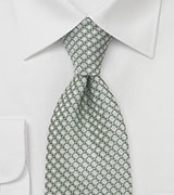 Diamond Patterned Tie in Pistachio Green