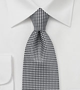 Small Squared Tie in Graphite Grey