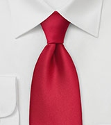 Bright Cherry Colored Power Tie