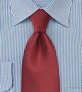 Men's Solid Tie in Cranberry Red