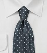 Steel-Silver Tie in Microfiber