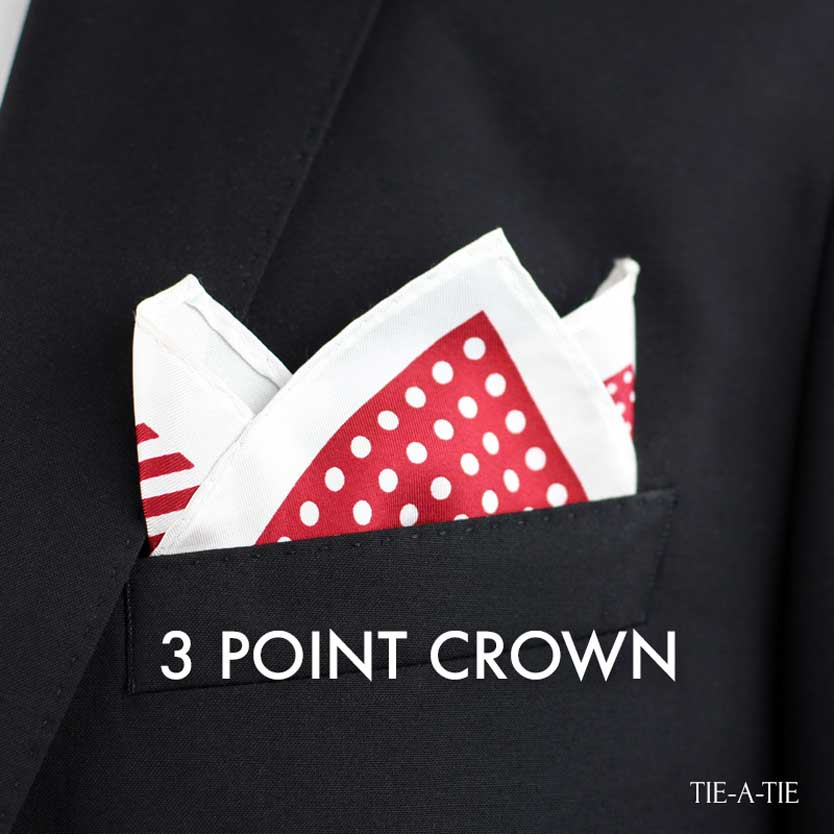 3PointCrown Pocket Square Fold