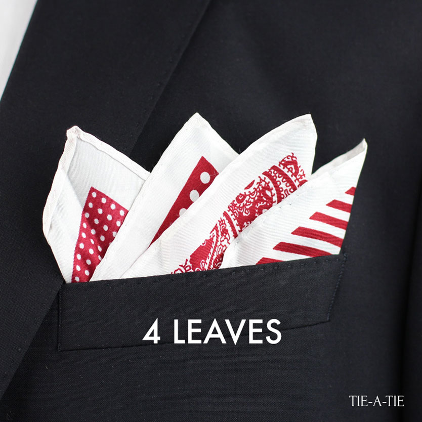 4 Leaves up pocket square fold