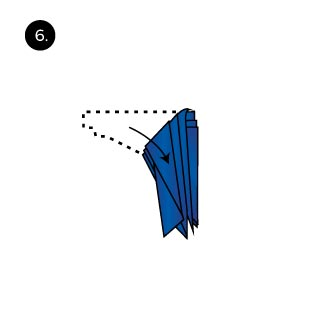 Monarch Hanky Folding Instructions