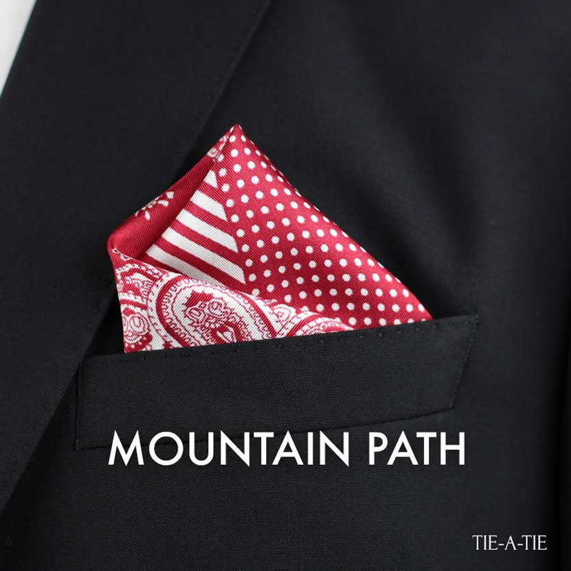 mountain path pocket square fold
