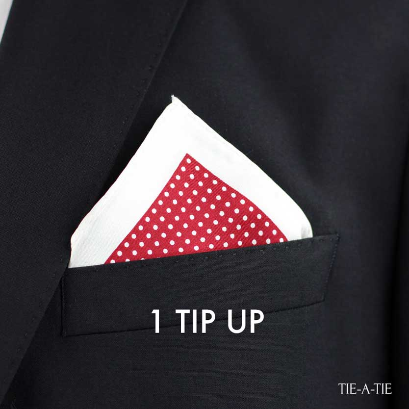 One Tip Up Pocket Square Fold