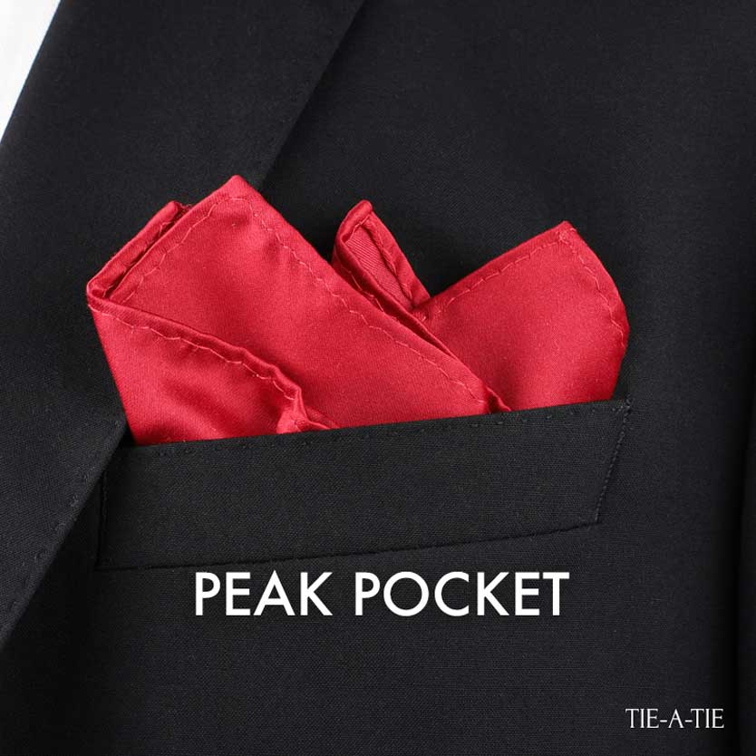 Peak Pocket Square Fold