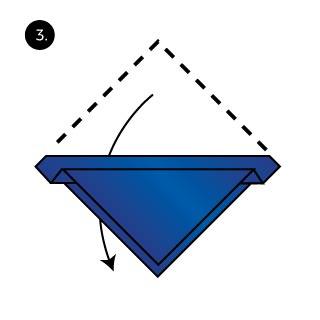 the scallop pocket square fold