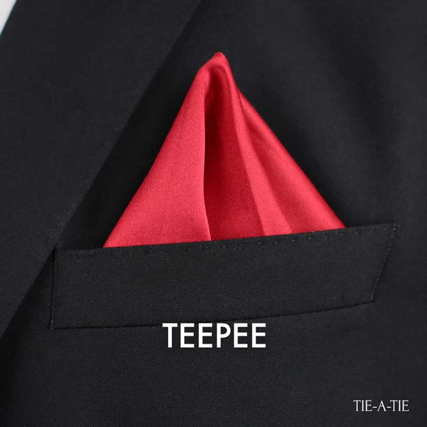 Teepee pocket square fold