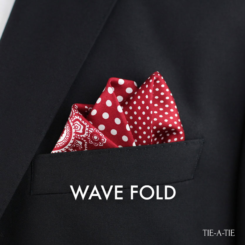 WaveFold Pocket Squares