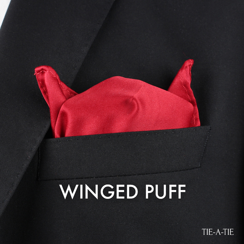 How to fold the Winged Puff Pocket Square Fold